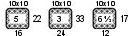 Símbolos para muestra de ganchillo o punto (gauge)