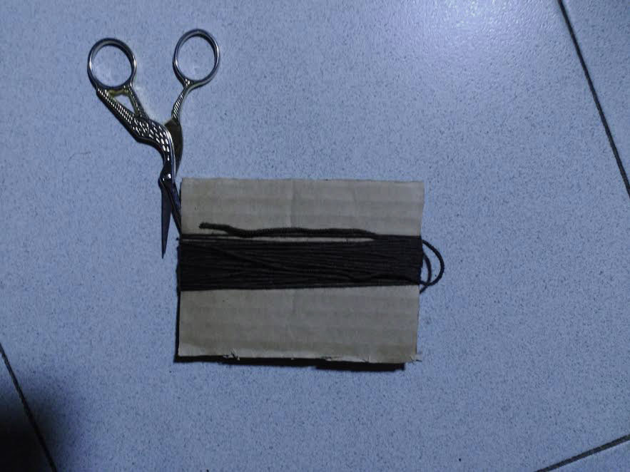 Instrucciones para hacer la borla del chal de ganchillo