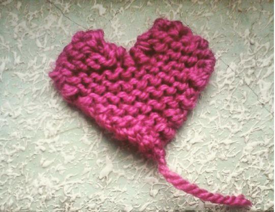 Corazones de lana DIY para san valentín